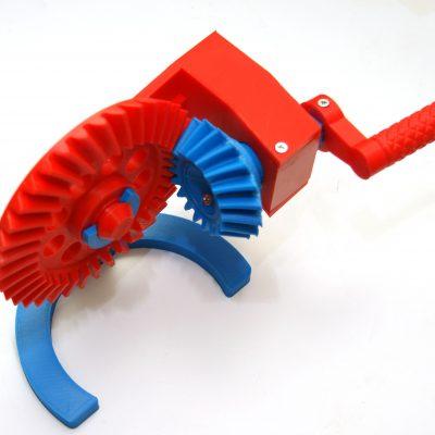 Редуктор конический, печать на 3D принтере