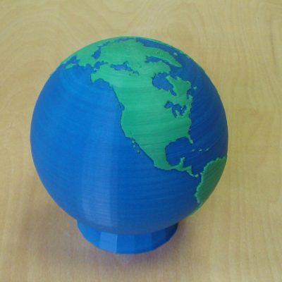 Цветная 3д печать - Глобус